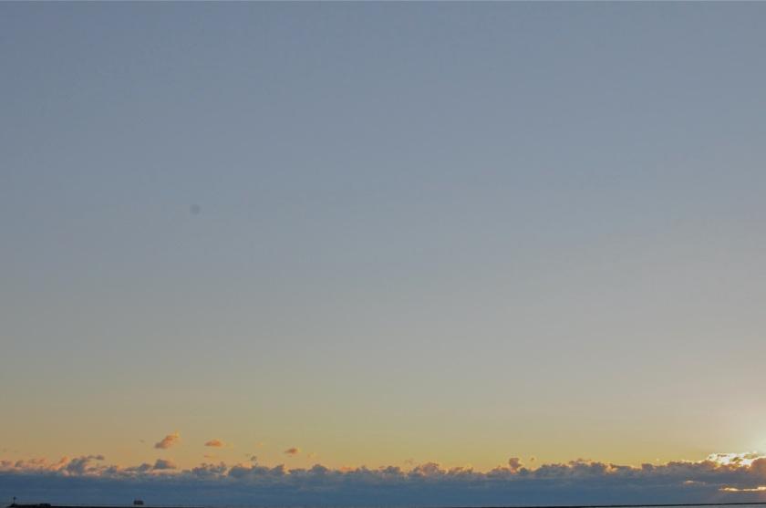 Sun rise over Lake Michigan