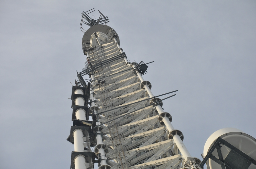 Those little antenna towers atop the John Hancock