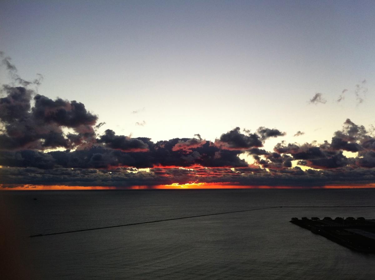 Sunrise over LakeMichigan